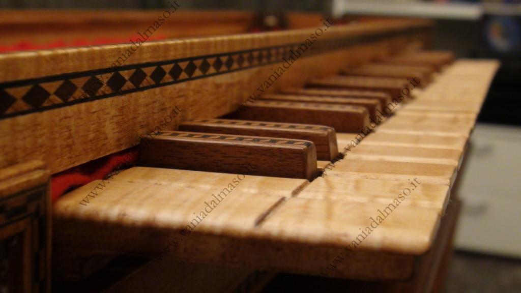 Tastiera del clavicordo